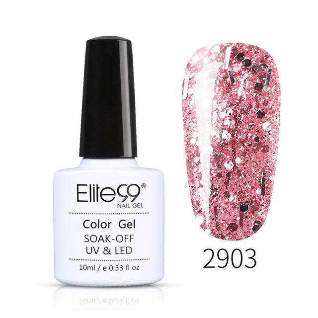 Elite99 10ml Rose Gold UV Gel Nagellack Glitter Pailletten Nagel Gel Polnisch Nude Farbe Gel Lack Tränken Weg UV Nail art Lack