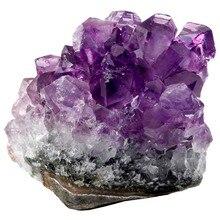 TUMBEELLUWA Natural Amethyst Quartz Cluster Geode Irregular Gem stone Specimen Healing Crystals
