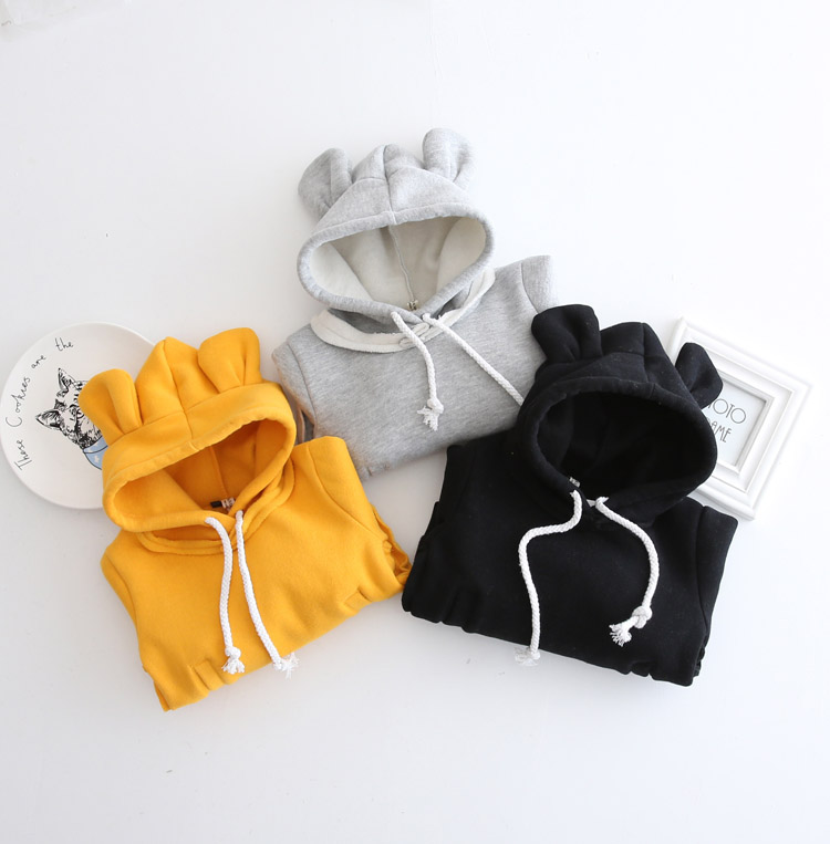 HTB1D c2XMvGK1Jjy0Fbq6z4vVXaE - 1-5Yrs Children Hooded Sweatshirt Boys Cute Bear Ears Animal Hoodies Unisex Kids Clothing Girls Tops Coats Baby Casual Outwear
