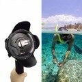 Câmera de ação de mergulho dome porta para xiaomi yi fotografia subaquática habitação lente portátil monopé acessório para xiaoyi