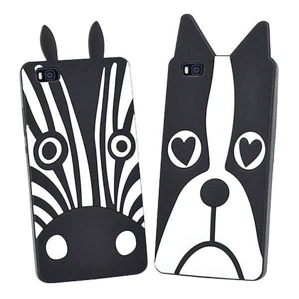 """3D Cartoon Dogs Zebra Silicon Soft Back Cover For Huawei P8 Lite Phone Case For Huawei P8 Lite 5.0"""" Mobile Phone Capa para coque"""