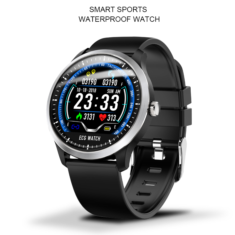 N58 Smart bracelet ECG + PPG Smart Watch Men IP67 Waterproof Fitness tracker Heart Rate Monitor Blood Pressure Sport smartwatch|Smart Watches| |  - title=
