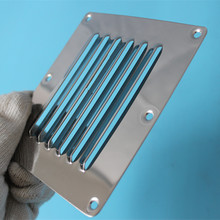 Louvred Stainless Steel Square Air Vent Grille Metal Wall Ventilation 12.5cm*11.5cm