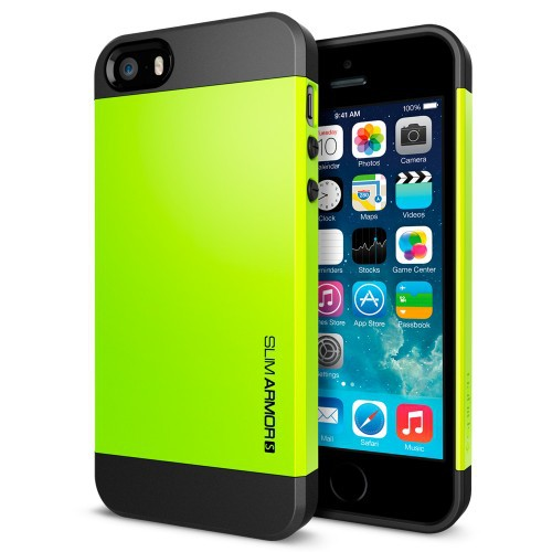 the latest 60124 401ff US $7.5 |SLIM ARMOR SPIGEN SGP [ Lime ] NEO Hybrid Hard For iPhone 5S / 5  Case Slim Armor S Frame with retail box on Aliexpress.com | Alibaba Group