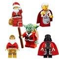Новый Звездные войны Building Blocks мини Рождество Мать Дед Мороз Мастер Йода Дарт Вейдер DIY Модель Блок Детские Игрушки Подарки