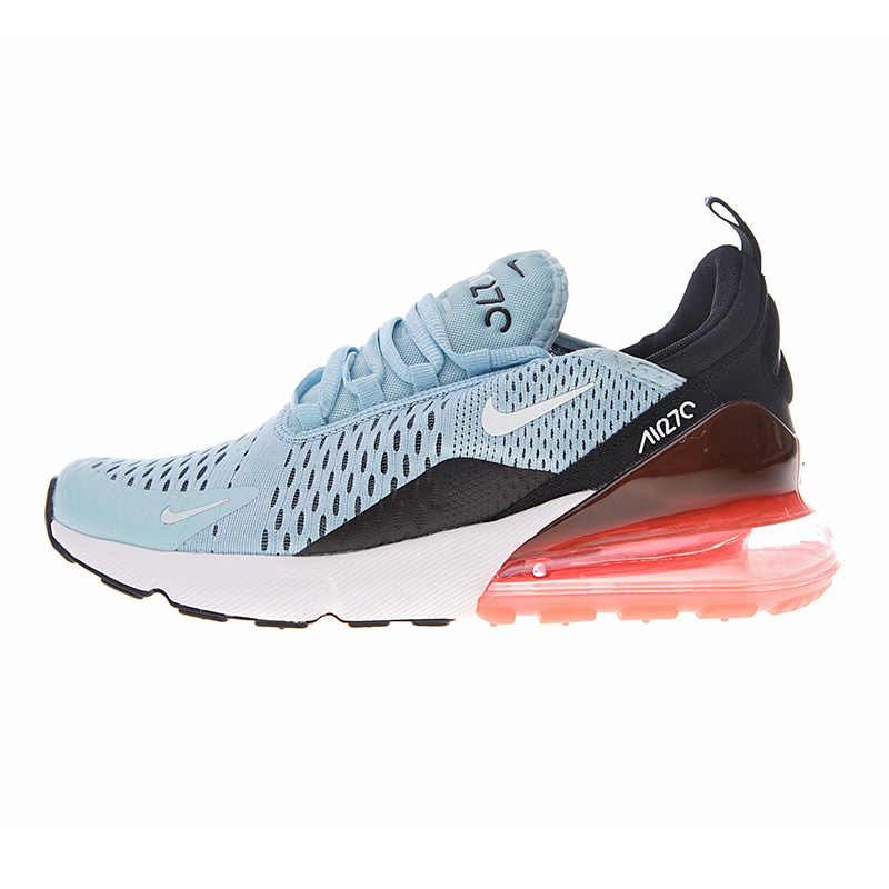 ad7e6b8976 ... Original Nike Air Max 270 Women's Running Shoes, Light Blue & Red,  Shock- ...