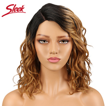Sleek Peruvian Human Hair Wigs Wet And Wavy Short Wigs For B