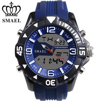 Men Sport Dual Display Luxury Watch Watches Men Electronic Military LED Male Watches Waterproof Rubber Strap