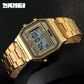2016 skmei mens relojes de primeras marcas de lujo led digital reloj deportivo relojes relojes de acero inoxidable reloj de pulsera impermeable militar