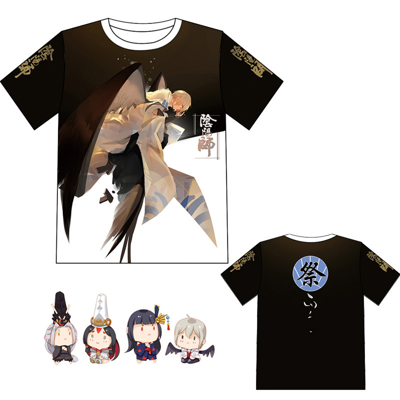Onmyoji Cartoon T-shirt Cosplay Costume Summer Men Women Casual T Shirt Short Sleeve Tees