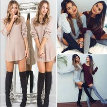 2019 Women Autumn new mini Dresses Solid Color Long sleeve Beat Sleeve Round Neck Irregular Pullover Mini sexy Short women Dress sexy style round neck long sleeve solid color backless women s dress