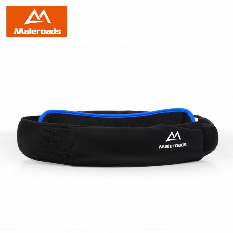 Maleroads Running Belt Running Waist Bag Fitness Running Pouch Lightweight Outdoor Hiking Marathon Jogging Belt Belly Bag Belts