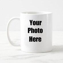 Livraison Gratuite Personnalisée Tasse à Café Blanche Tasse à Thé En  Céramique Avec Votre Logo De Texte Photo