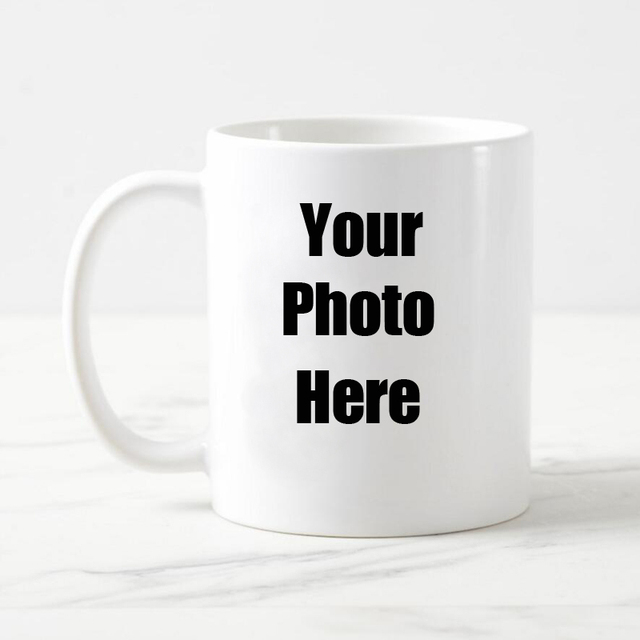 Free Shipping Personalised Custom White Coffee Mug Ceramic Tea Cup With Your Photo Text Logo