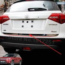 2016 For Suzuki Vitara Tailgate Rear Door Bottom Cover Molding Trim Stainless Steel back door trim car Accessories цена