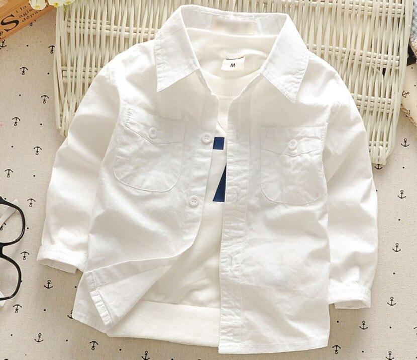 Neue Jungen Shirt Für Kinder Mode Kleidung Baby Jungen Langarm-shirts Weiß England Kinder Kleidung Neugeborenen Baumwolle Tops 1-4 T