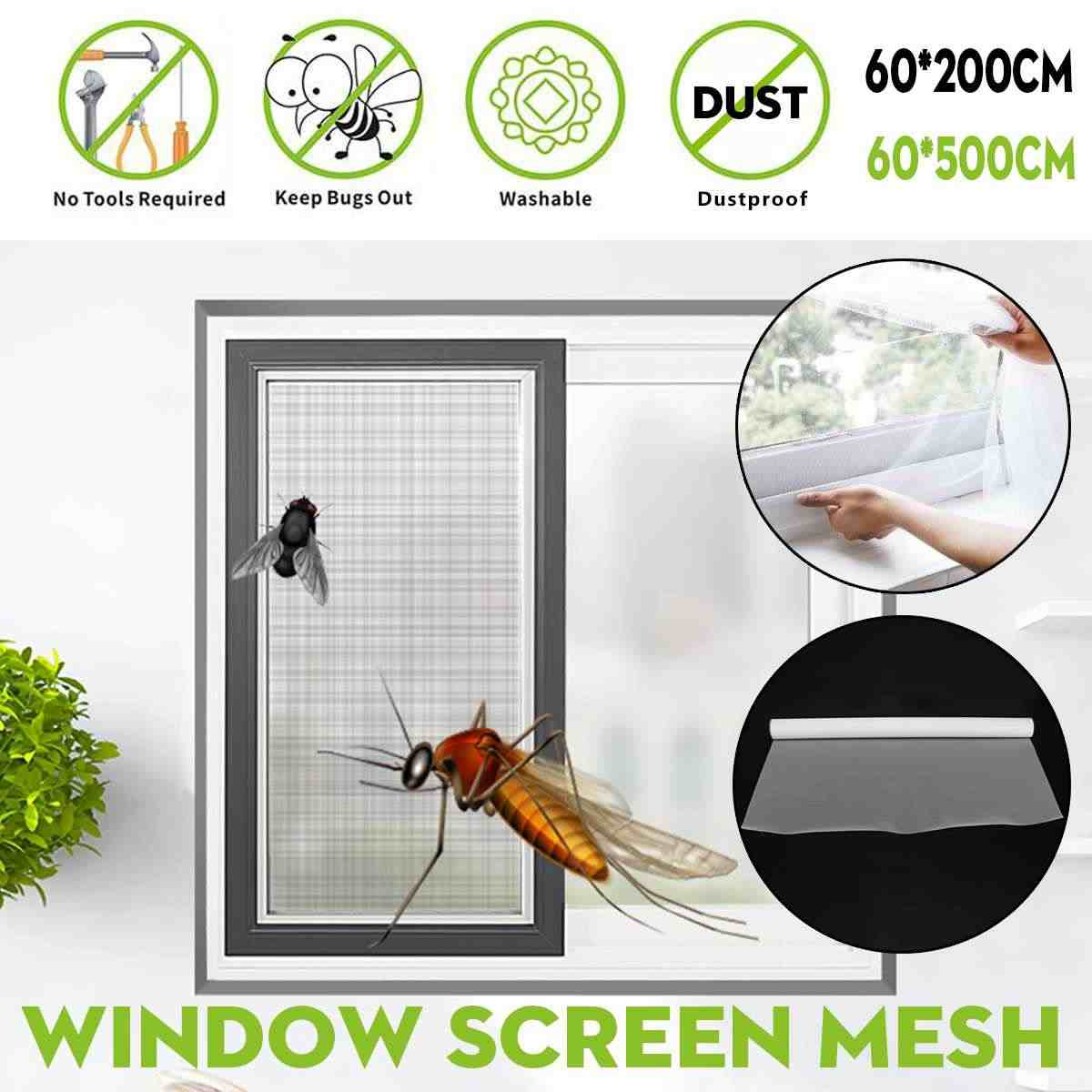 High Grade Dense Indoor Window Door Screen Mesh Anti PM2.5 Dust Insect Fly Fog Curtain Mosquito Net Curtain Gauze Screens Mesh