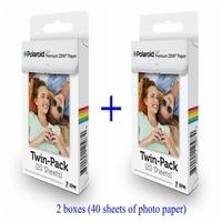 Folhas de impressão Sem Tinta 40 papéis fotográficos 5*7.62 cm Z2300/Snap/Socialmatic/ZIP papel fotográfico especial 2x3 polegada