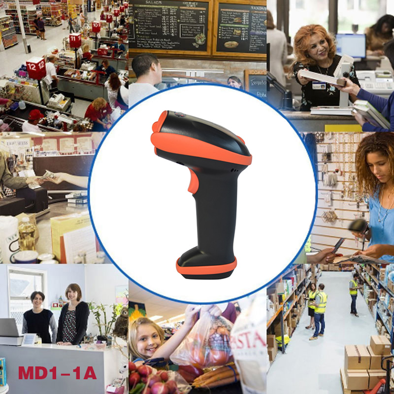 New Bluetooth Wireless Laser Barcode Scanner Rechargeable Handheld Cordless Bar Code Reader For POS Inventory Q99 SL@88 inventory accounting