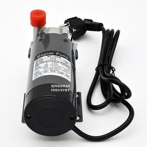 """Image 5 - HomeBrew pompa MP 15R gıda sınıfı 304 paslanmaz çelik bira ev demlemek 220V manyetik su pompası sıcaklık 140C 1/2 """"BSP/NPT"""