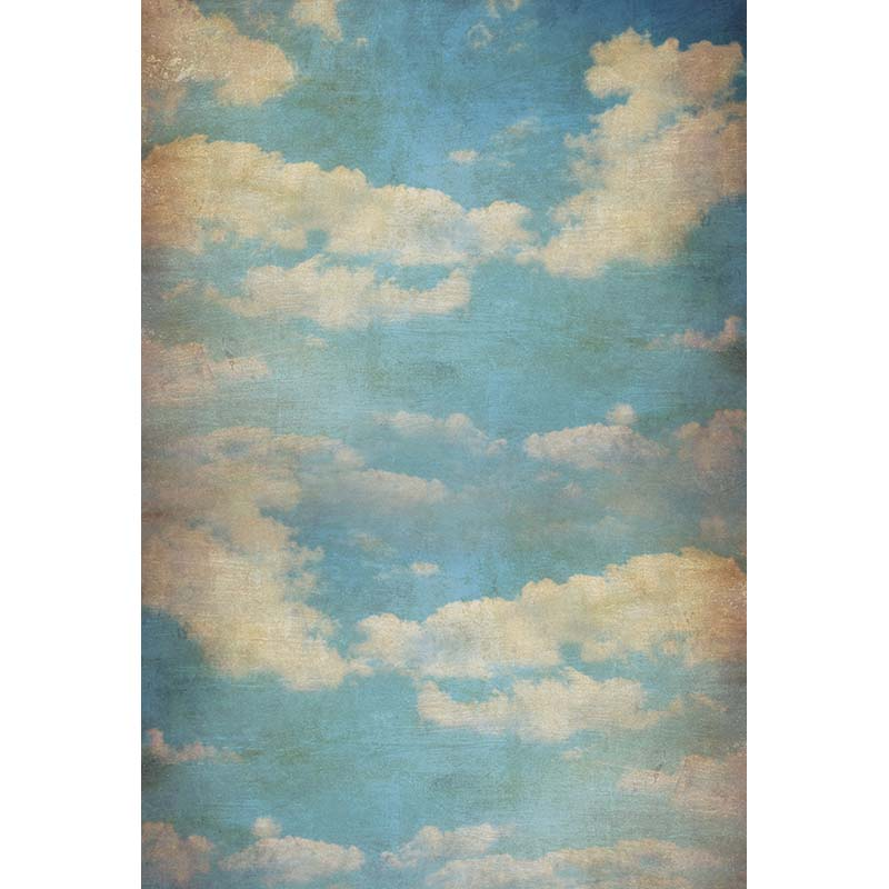 5X7ft Vinyl photography backdrops Flaky clouds Photo Background Computer Printing Children backgrounds for photo studio CM-6717