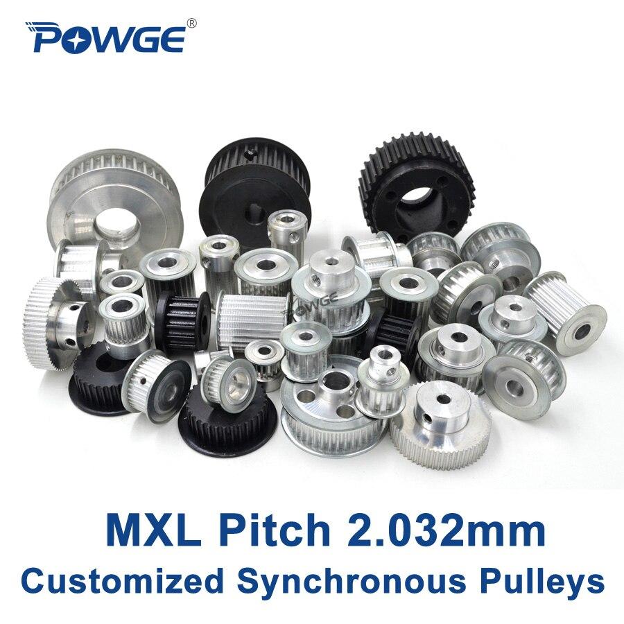 POWGE pouce trapézoïdal MXL pas de poulie 2.032mm fabrication d'engrenages de roue personnalisation de toutes sortes de courroie de poulie synchrone MXL