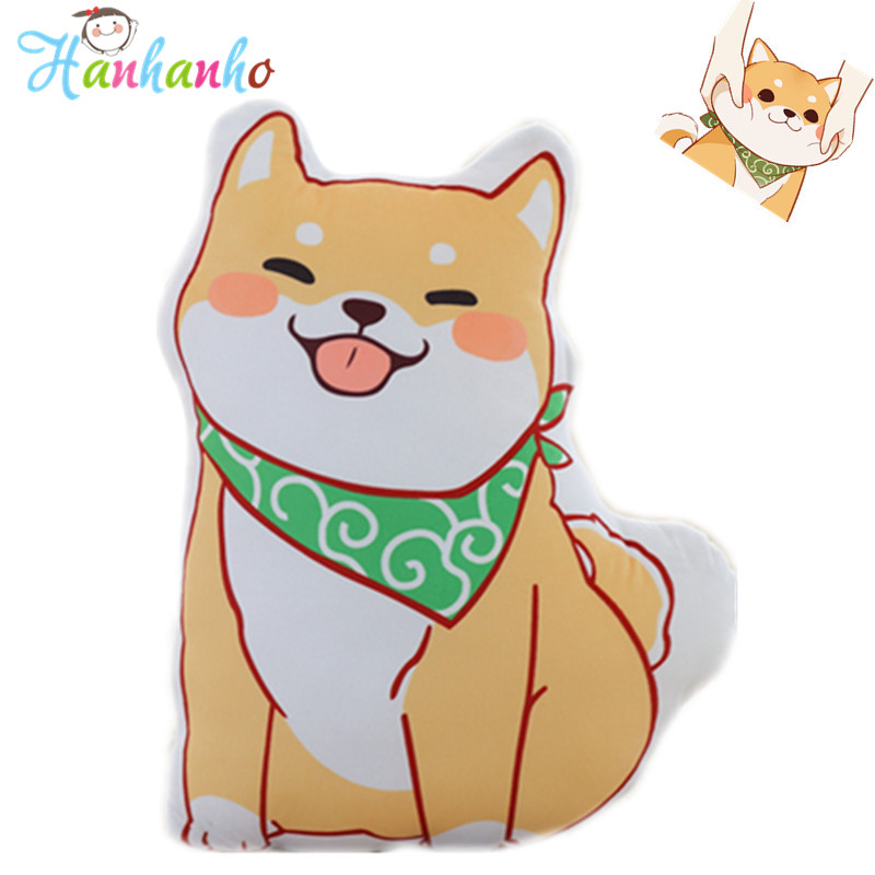 Super Cute Cartoon Shiba Inu Plush Toy Cushion Yellow Puppy Cloth Doll Kids Pet Dog Gift Stuffed Animal Pillow shiba inu dog japanese doll toy doge dog plush cute cosplay gift 25cm