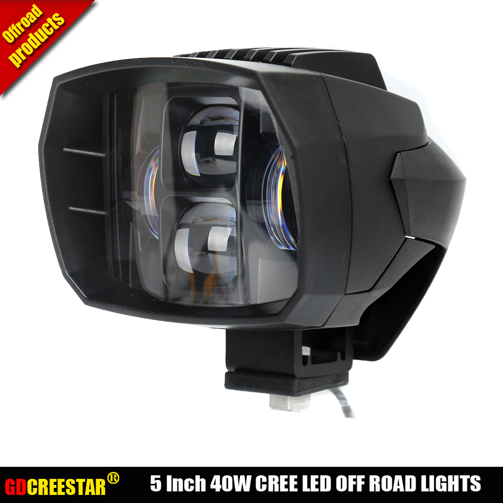 Black 40W Led Low beam Motorcycle led headlamp 5'' led auxiliary work driving light For SUV ATV 4x4 Truck Car x1pc free shipping 5inch new led driving light 40w led headlight low beam lamps for car truck suv atv marine new external light x2pcs free shipping