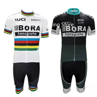 2017 Summer Cycling Jersey Bora Hansgrohe Summer Men Pro Ciclismo Ropa Bike Quick Dry Set Bycicle