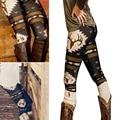 Hot Christmas camouflage print leggings for female women's fashion sexy leisure leggings high - elastic trousers 8z
