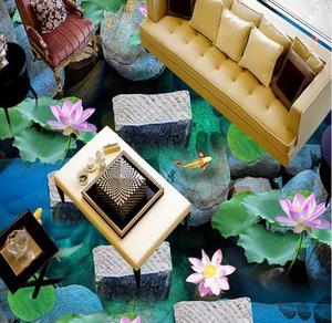Banheiro piso de azulejo personalizado passagem De Pedra água do rio insonorização auto-adesivo chão piso 3d adesivos à prova d' água