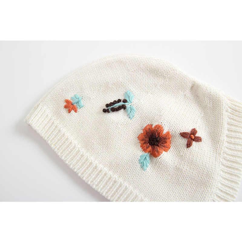 Sodawn ฤดูใบไม้ร่วงฤดูหนาวเสื้อผ้าเด็กทารกถักเย็บปักถักร้อยออกแบบ Jumpsuit เสื้อผ้าเด็ก + หมวกเด็กทารกเสื้อผ้าเด็กทารก Jumpsuit