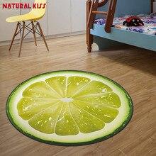 Impresión 3d fruta redonda niños dormitorio suave alfombras de cocina carpet rugs para Silla de la Computadora Estera tapetes y alfombras para el hogar sala de estar