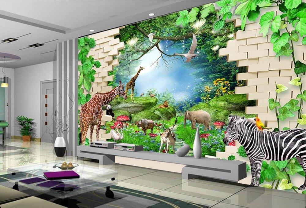 Kinderkamer Jungle Behang : Beibehang papel de parede d behang custom mode decoratieve behang