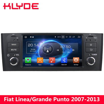 KLYDE Octa Core 4G Android 8.0 4GB+32GB Car DVD Multimedia Player For Fiat Linea/Grande Punto 2007 2008 2009 2010 2011 2012 2013