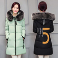 Winter Jacket Women 2017 New Large Fur Collar Hooded Parka Thick Coat For Women Outwear Four Colour Slim Female Clothing
