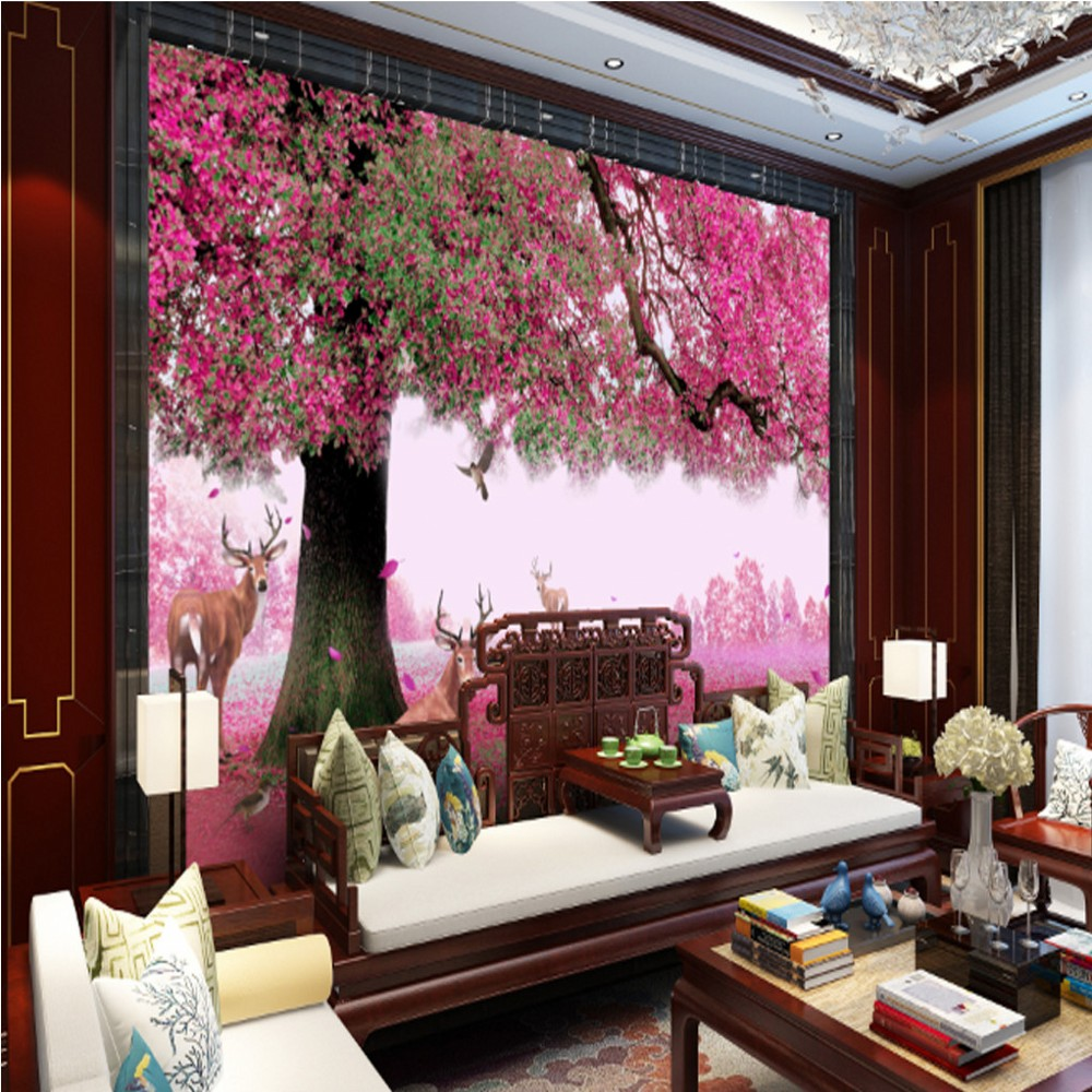 living 3d tv nature backdrop walls decorating scenery custom wallpapers shipping