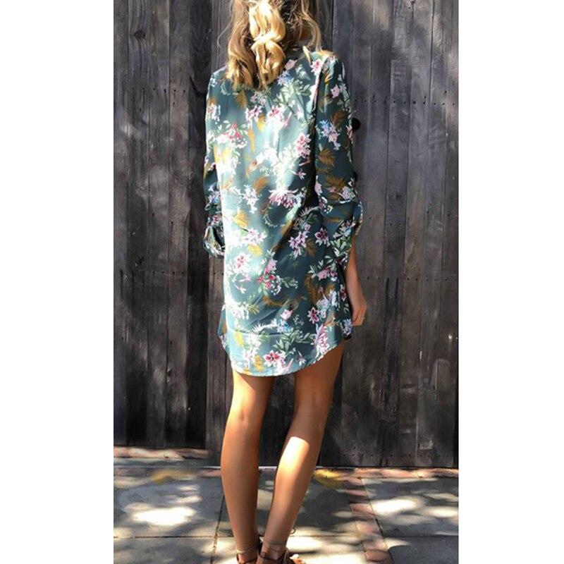 Women Blouse Shirt Print Flower Short Sleeve Blouses 3