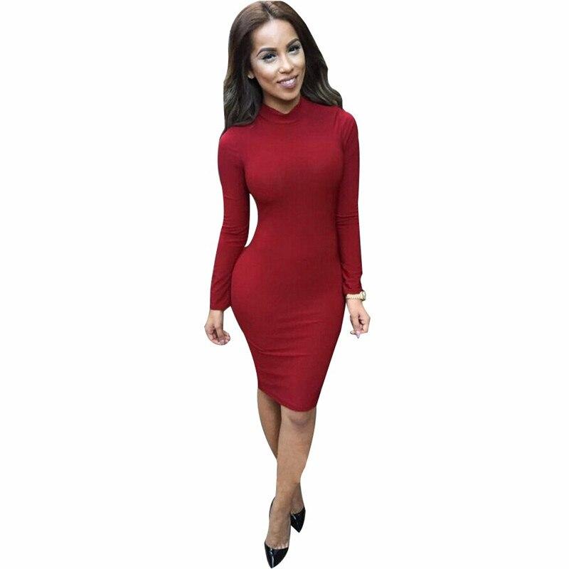 Sexy Red Dress Winter