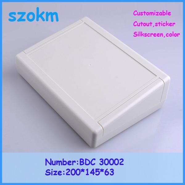 szomk electronics new plastic box (1 pcs) 200*145*63mm desktop enclosure plastic electronics box instrument housing for pcb plastic coffee knock box new