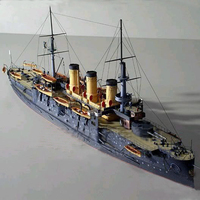 DIY 3D Paper Model Scale 1:250 Military Ship Model Czar Russia Navy Oslabya Warship Handmade Art Toy Ship Papercraft