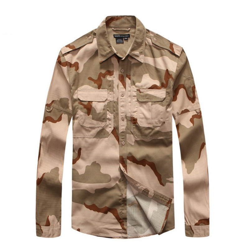 Shirts Lovely Out Door Tactics Scratch Resistant Camouflage Buttoned Jacket Tops Mens Casual Shirt Military Clothing Tactical Shirt