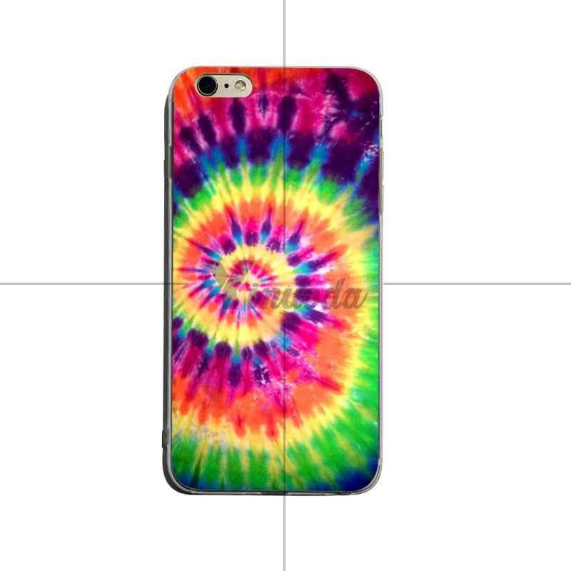 Yinuoda abstrait arc-en-ciel ondulation cravate teinture art Adorable couleur dessin téléphone étui pour iphone X XS XR XsMax 8 plus 6 6 s 7 7 plus