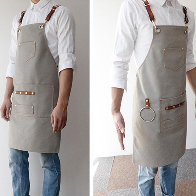 Canvas Apron Leather Strap D55-5