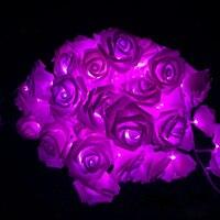 10 m 100 LED Rose flor Tiras de luces de LED luces ac110v/220 V Vacaciones Navidad Jardín de la boda del Partido de San Valentín luces de la decoración