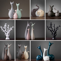 Nordic Ceramic Statues Crafts Home Accessories Creative Home Cabinets Decorated Wedding Housewarming Gifts