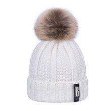 Warm Thick Knitted Pom Pom Hats