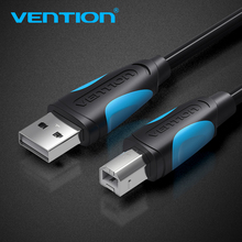 Vention USB 2.0 מדפסת כבל סוג זכר ל b זכר סורק סנכרון נתונים מטען כבל זהב מצופה כבל עבור HP מדפסת USB2.0 כבל
