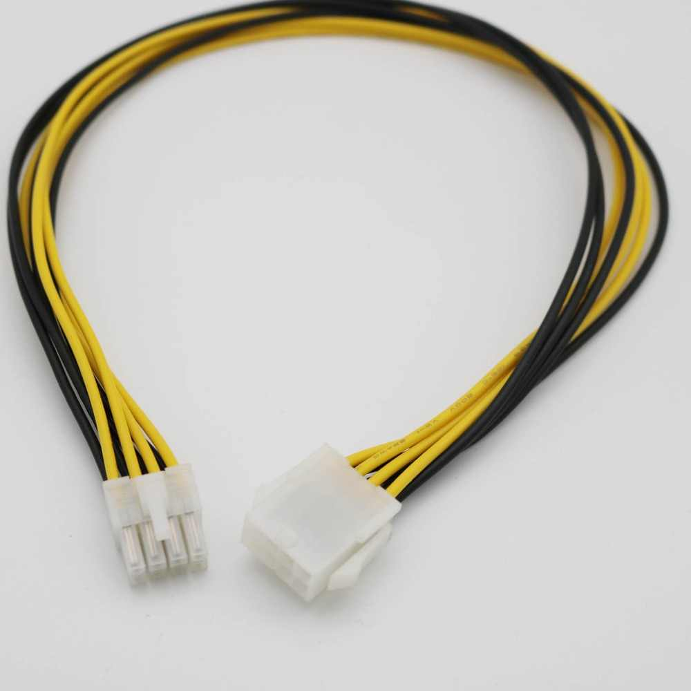 1pcs 8-Pin 2x4 12V Power Supply Extension Cable/Cord Male to Female EPS 8P ATX Motherboard CPU 50cm