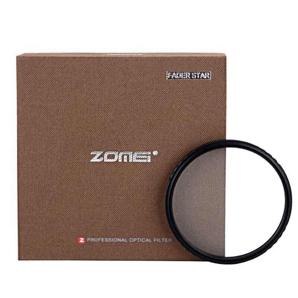 Zomei filtro de vidro óptico abs, filtro de estrela linha 4/6/8 ponto câmera slim 49/52/58/67/72/77/82mm para canon nikon sony